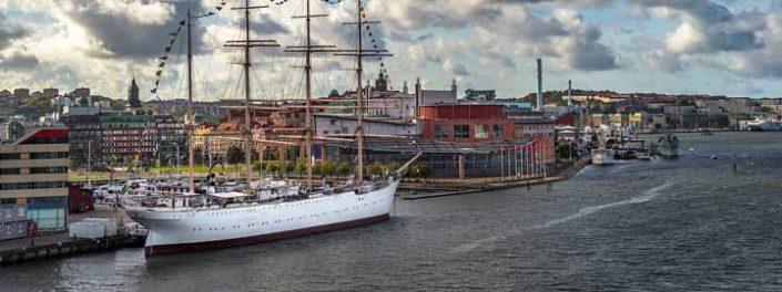 Bilden visar vy över Lilla bommen i Göteborg