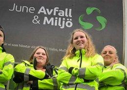 Bilden visar chaufförer från June Avfall & Miljö